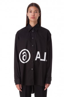 Рубашка oversize c логотипом